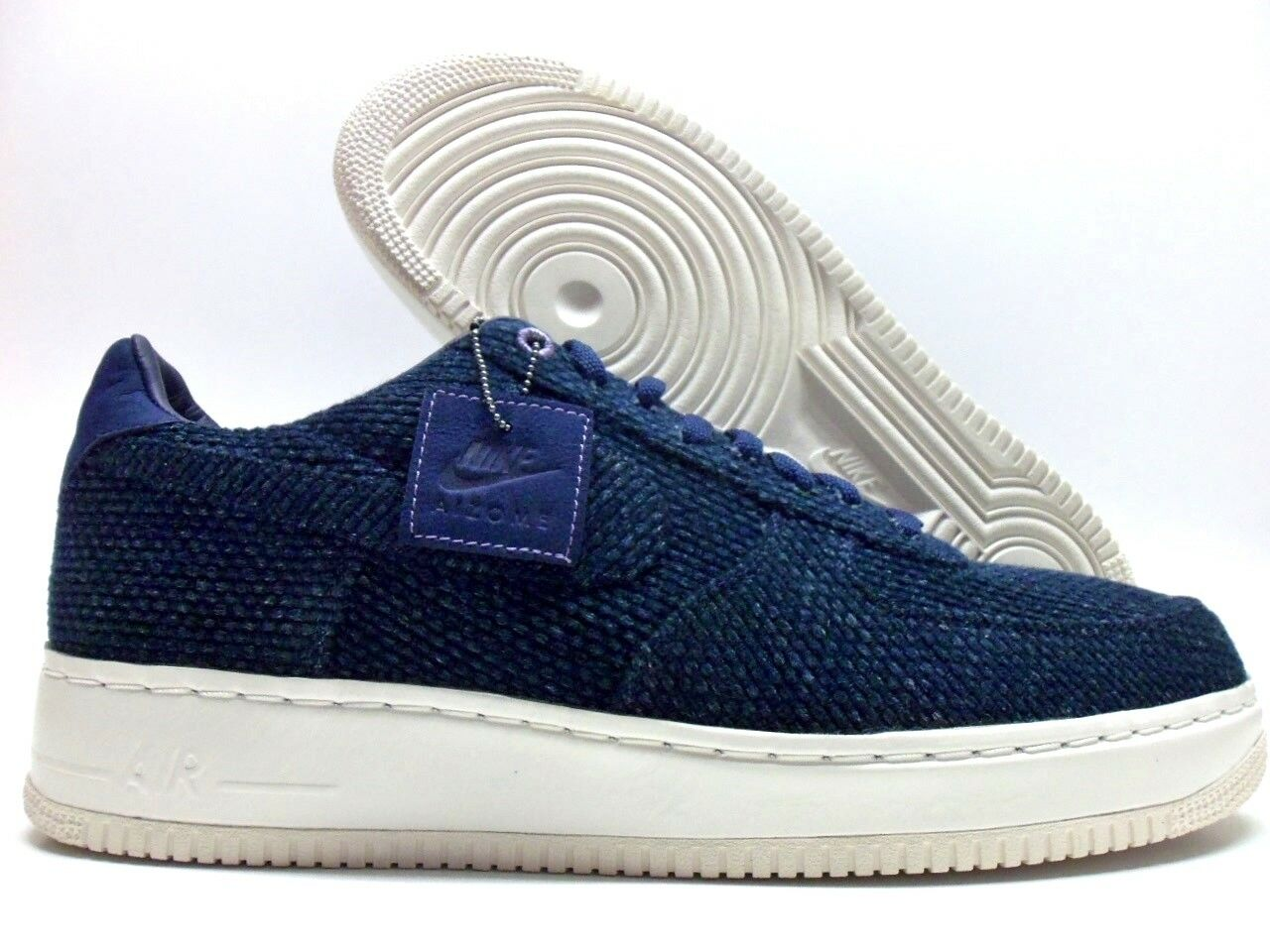 NIKE AIR FORCE 1 LOW AIZOME SASHIKO JAPAN MIDNIGHT NAVY SZ MEN'S 14 [AR4670-444]
