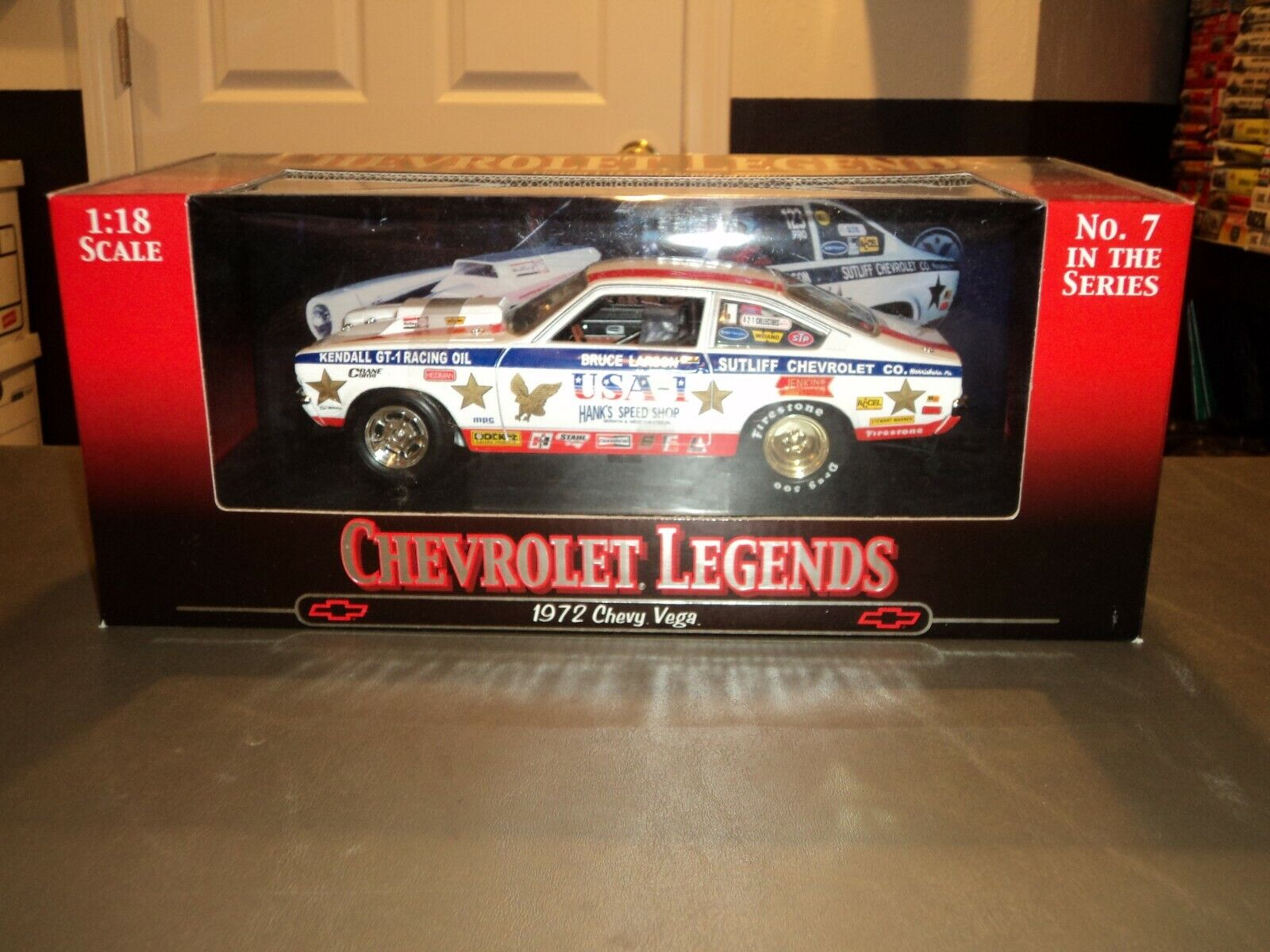 solo para ti Nuevo Ertl Chevrolet Legends Legends Legends  7 1 18 1972 Chevy Vega Die Cast Bruce Larson USA-1  70% de descuento