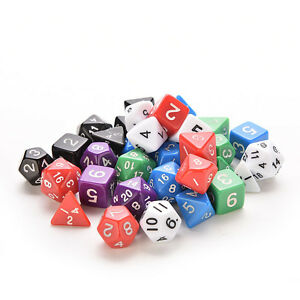 Sided Die D4 D6 D8 D10 D12 D20 for MTG RPG D&D  DND Poly Dices Board ATAU