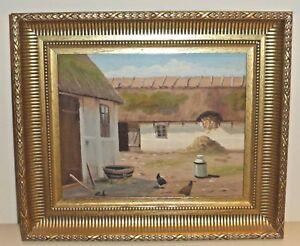 Danish-Artist-Carl-Alring-1914-1995-Painting-on-Board