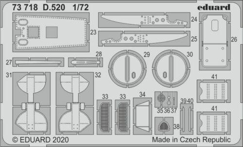 Eduard 1//72 Dewoitine D.520 Detailing Set # 73718