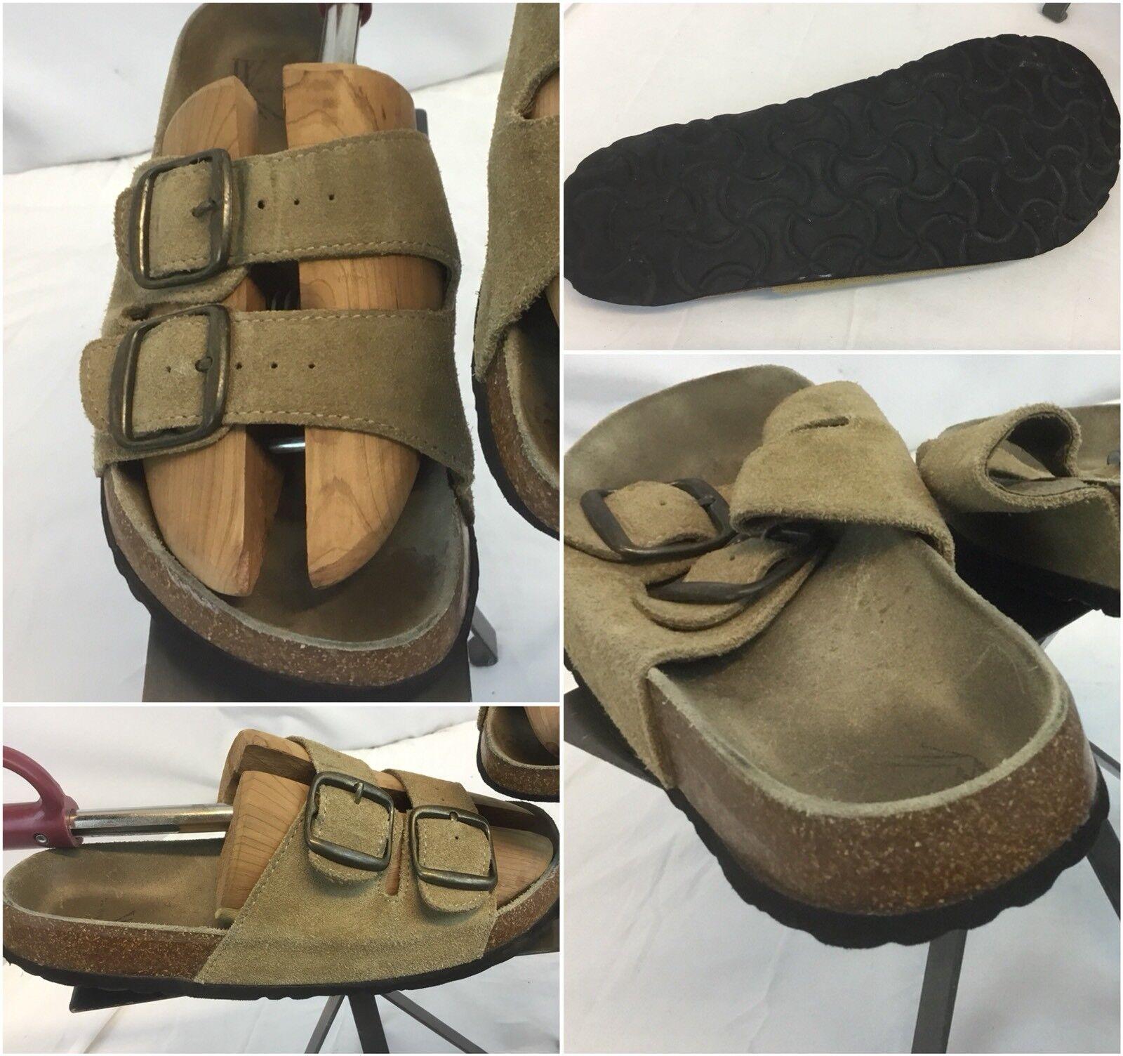 White Mount Sandals Sz 7 M Women Tan Leather Strap EUC YGI G8