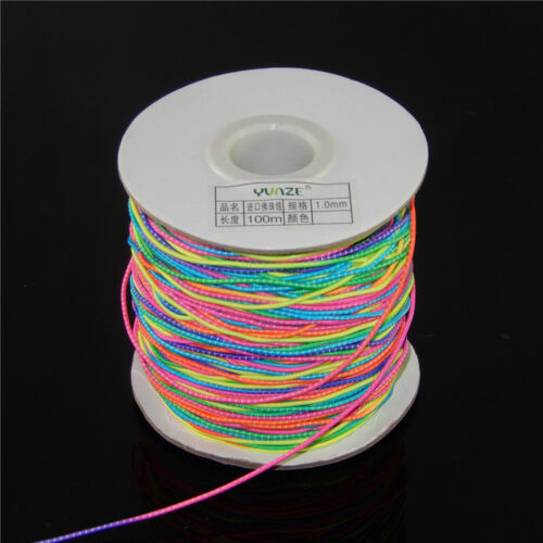 5 Metres Round 1mm Colorful Elastic Stretch Bungee Rope Shock Cord DIY Crafts