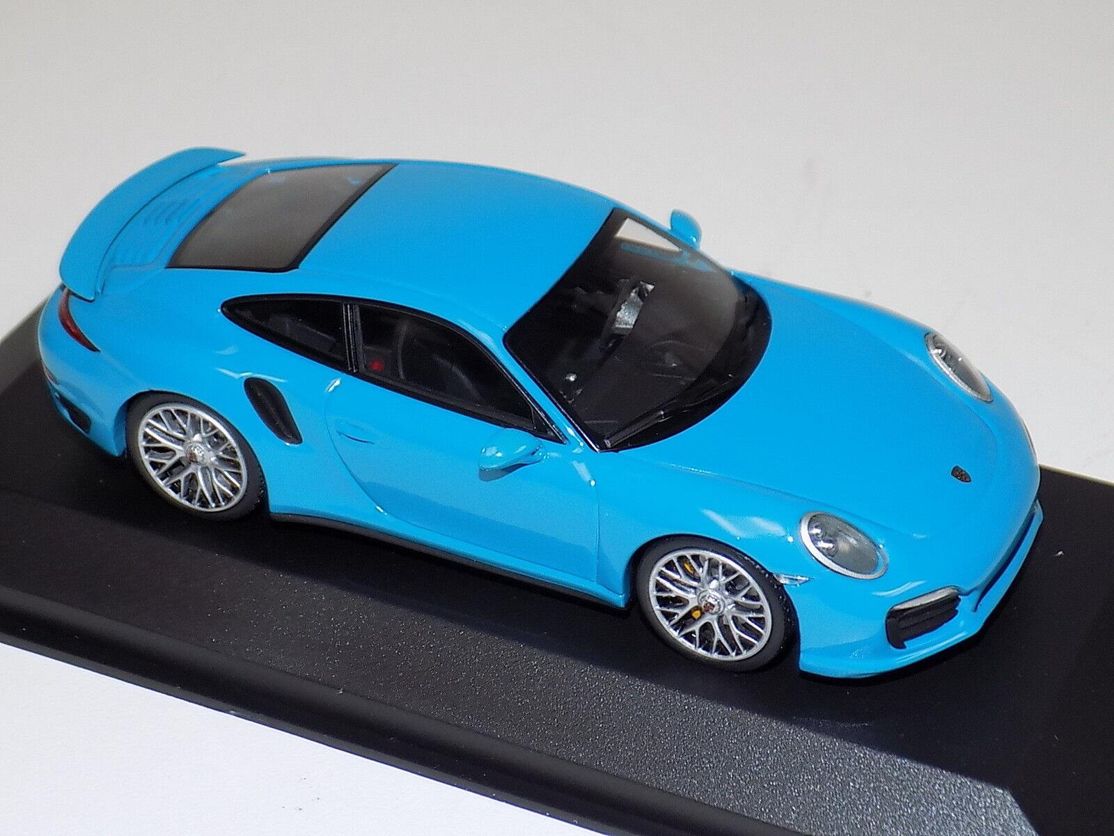 1 43 Minichamps Porsche 911 ( ( ( 991 ) Turbo Miami bluee CA04316062 a36f4b