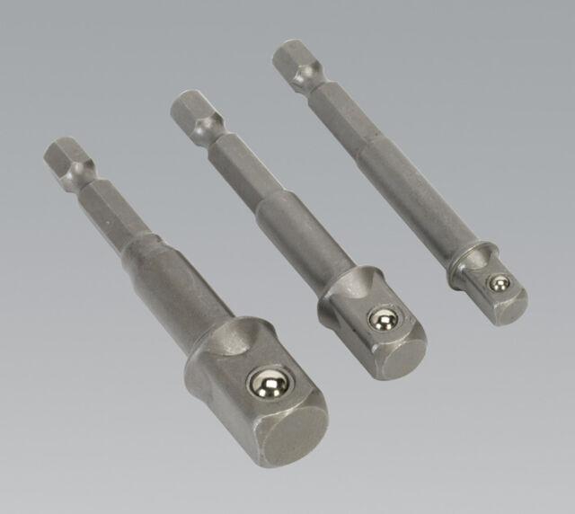Sealey Ak4929 Adaptateur Prise Set 3 Pièces Outil Électrique