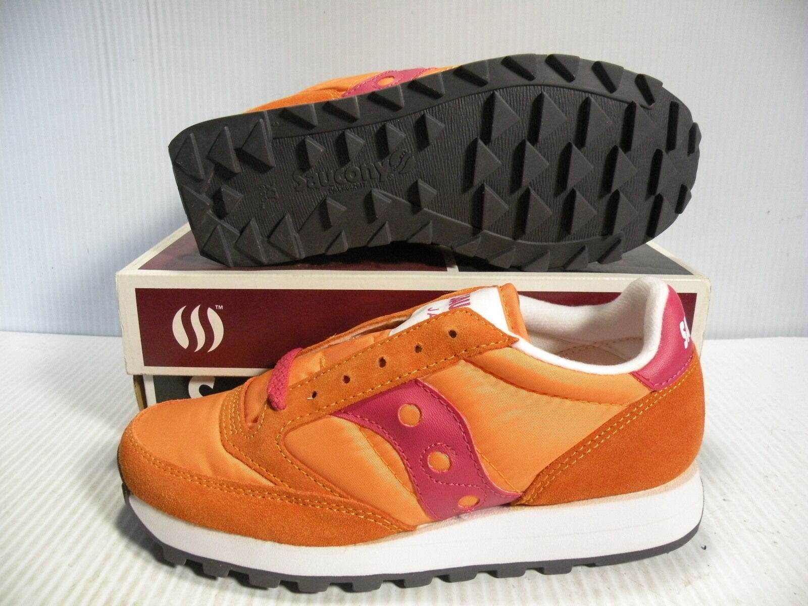 SAUCONY JAZZ ORIGINAL LOW SNEAKERS WOMEN SHOES ORANGE/RED 1044-92  SIZE 5.5 NEW