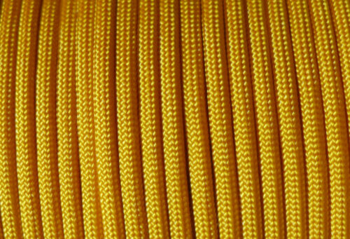 Paracord 550 Typ III 4mm Schnur Band Fallschirmseil 100/%Nylon goldgelb goldenrod