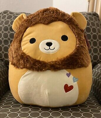 "NWT Squishmallow 8/"" Lion Francis Valentine 2020 plush kellytoy NEW"