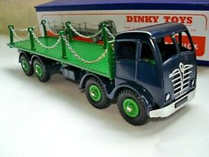 Atlas-Dinky-Supertoys-No-505-905-Blue-Foden-Flat-Truck-with-Chains-Mint-boxed