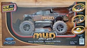 New-Bright-Ford-F150-Mud-Slinger-Remote-Controlled-RC-Truck-in-Original-Box