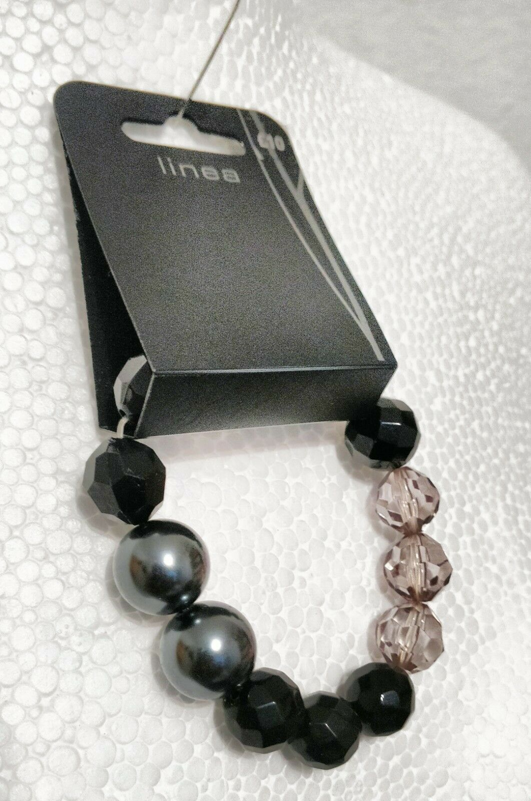 House Of Fraser Buckley Linea Pink Crystal Beads and Black Pearls Bracelet