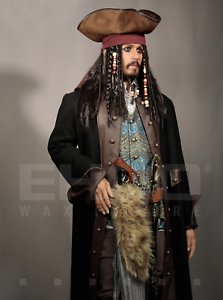 Life Size Jack Sparrow BUST Statue Johnny Depp Prop Pirates Movie Style 1:1