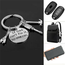 """Keyring """"If Dad Can""""t Fix It No One Can""""Keychain Key Holder Fathers'day RSDE"""