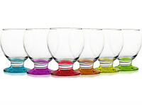 Brand New Set of 6 Coloured Drinking Glasses Modern Dessert Ice Cream Cup Bowls