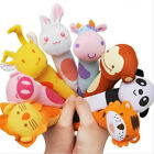 Cute Soft Sound Animal Handbells plush Squeeze Rattle For Newborn Baby Toy Gifts