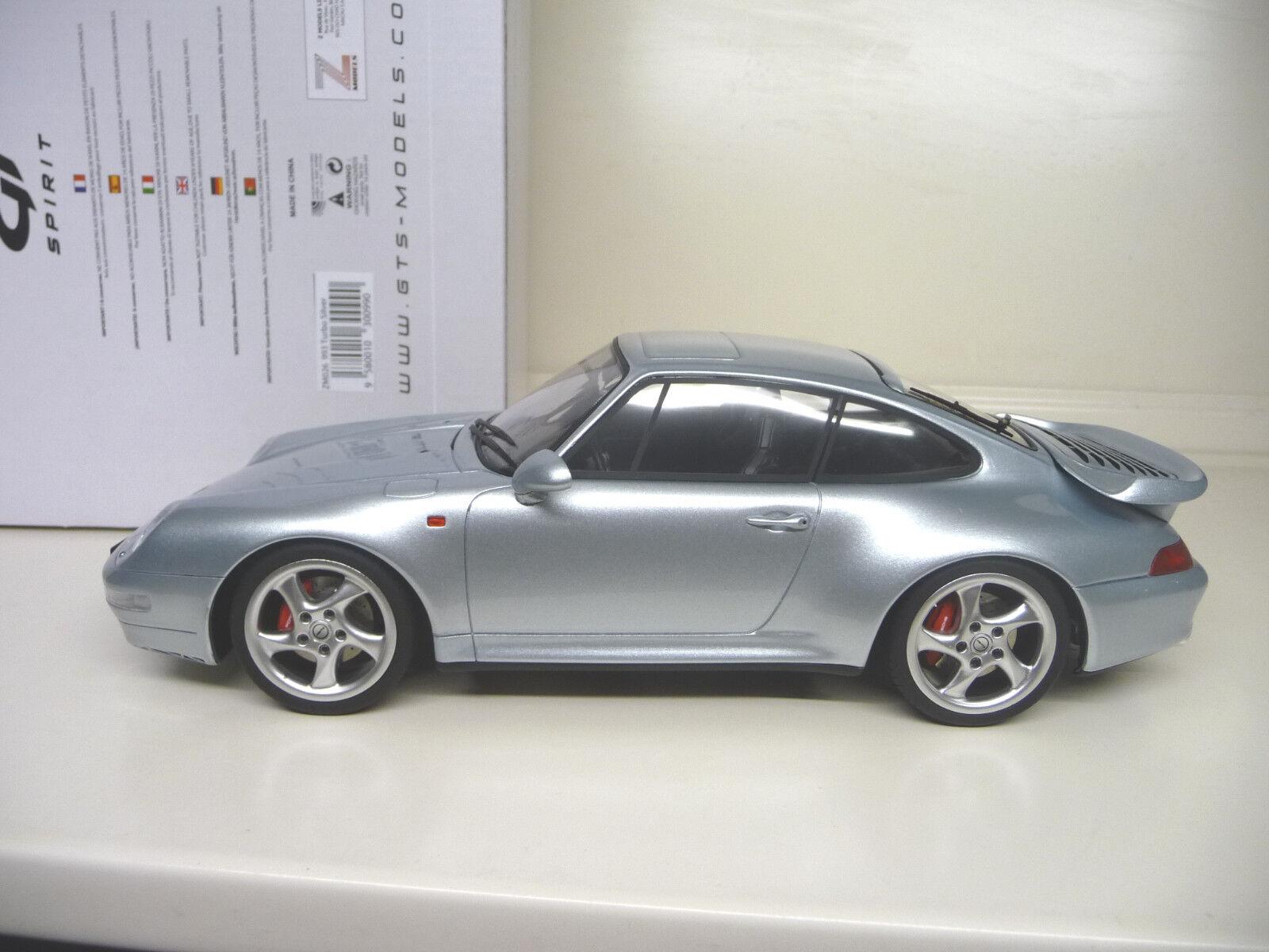 GT Spirit Porsche 911 993 Turbo edición limitada de Plata. envío Gratis