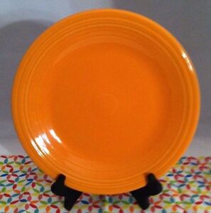 Image is loading Fiestaware-Tangerine-Dinner-Plate-Fiesta-Retired-Orange- Plate & Fiestaware Tangerine Dinner Plate Fiesta Retired Orange Plate | eBay