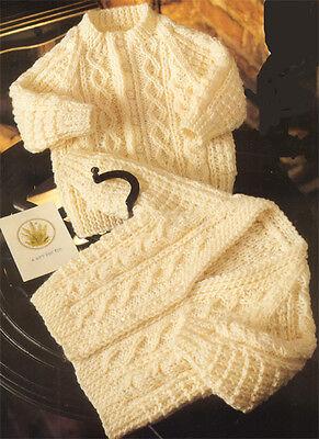 Knitting Pattern-  Aran style Raglan sleeved cardigans - DK wool-fits 45-60cm