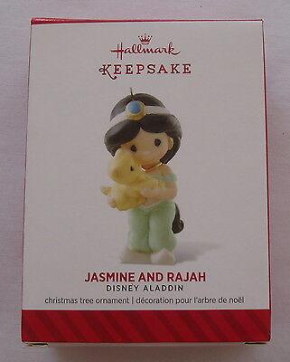 Hallmark 2014 Disney Aladdin Precious Moments Jasmine Rajah Christmas Ornament