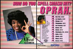 THE-OPRAH-WINFREY-SHOW-Original-1986-Trade-print-AD-TV-series-promo-advert