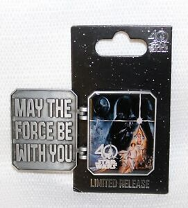 WDW-STAR-WARS-Hinged-Pin-Trading-17-MAY-THE-FORCE-BE-WITH-YOU-40th-Anniversary