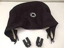 Bugaboo Frog Stroller Sun Canopy Black Canvas Hood Sunshade w Adapters & Wire