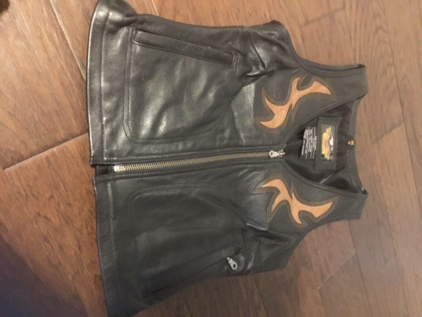 Harley Davidson Women's Leather Vest NEW SZ XS