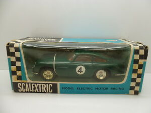 Scalextric C68 Aston Martin in Green, comes in rare Export box.