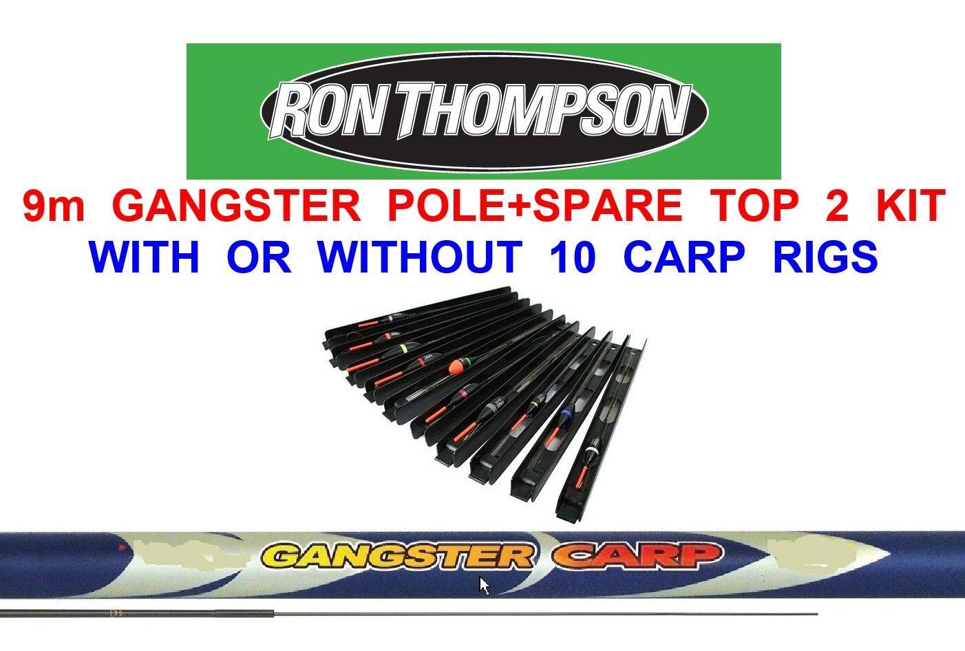 RON THOMSON 9m CARBON GANGSTER POLEN SPARE TOP 2 KIT CHOOSE 10 POLE RIGS OPTION