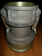 Large Brass Or Bronze Water Fire Hose Coupler 3b X 4a Ms 49000 9