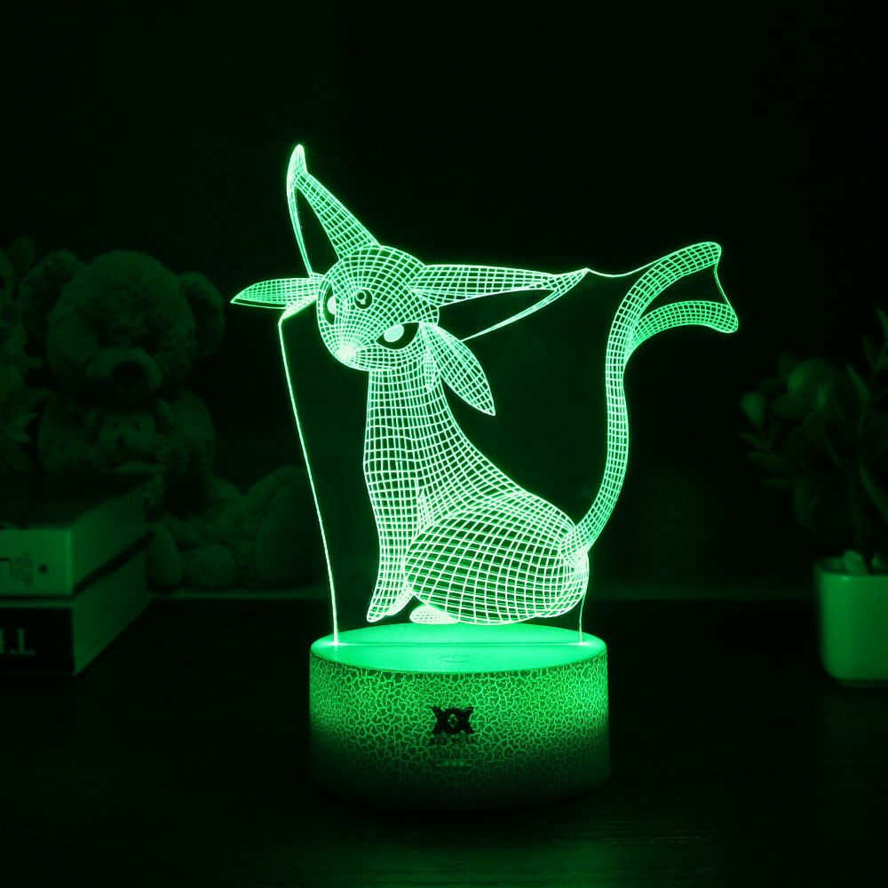 Pokemon Umbreon Pikachu 3d Lamp Acrylic Led Night Light
