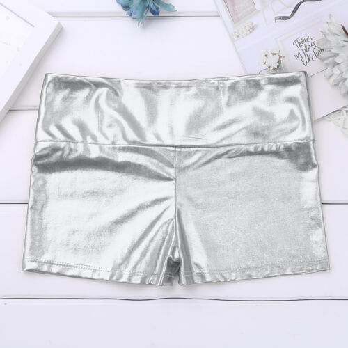 Girls Kid Dance Sports Shorts High Waisted Hot Pants Workout Gym Ballet Bottoms