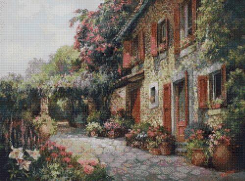 Country Cottage # 8-Cross stitch Chart