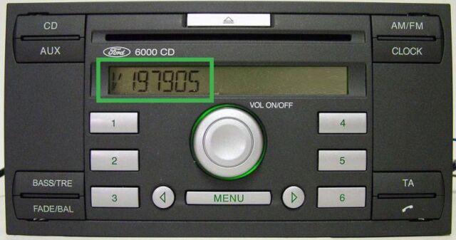 ford radio code unlock keycode (m series)