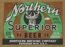 1 beer label from Superior, Wisconsin, Northern Brg., Superior Beer, 12 oz. IRTP