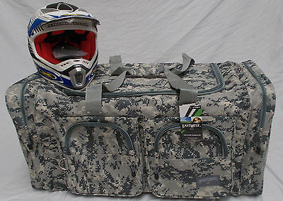 XL Motorcycle atv mx gear bag motocross off road dirt bike digital grey camo