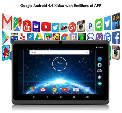 """iRULU eXpro X1 7"""" HD Screen Tablet PC 8GB Android 4.4 Quad Core Dual Cam WIFI"""