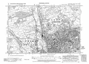Old map of Exeter north west 1938 Devon repro Dev80NW eBay