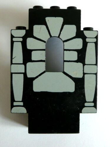 gebraucht. Schwarz mit Säulen 1 x LEGO® 4444 Burgwand