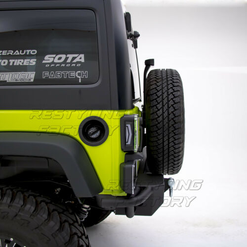 Rock Crawler Rear Bumper w//Hitch Receiver Black for 07-18 Jeep JK Wrangler