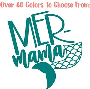 Details About Mer Mama Mermaid Mom 3 Decal Vinyl Sticker For Yeti Wine Glass Tumbler Cup