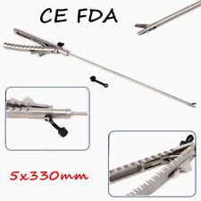 5x330mm Needle Holder V Type Laparoscopy Laparoscopic Endoscopy Straight Jaw