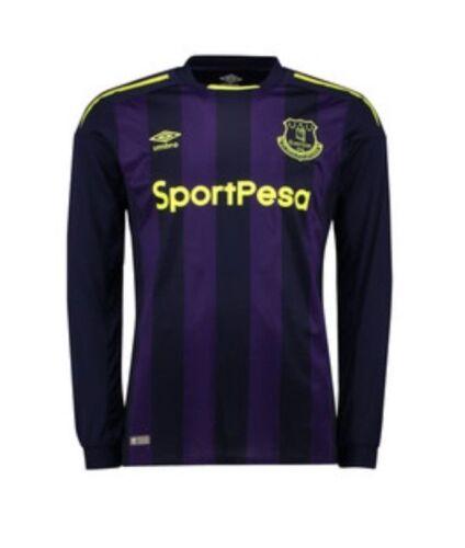 NUOVO Umbro 2017//18 adulto Everton FC 3rd Away Camicia Top Jersey 2 per £ 12.99 Piccolo