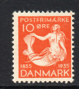 Denmark-10-Ore-Stamp-c1935-Mounted-Mint-1468