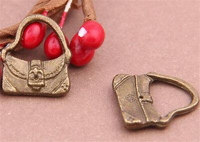 PJ641 20pc Antique Bronze handbag Pendant Bead Charms Accessories wholesale