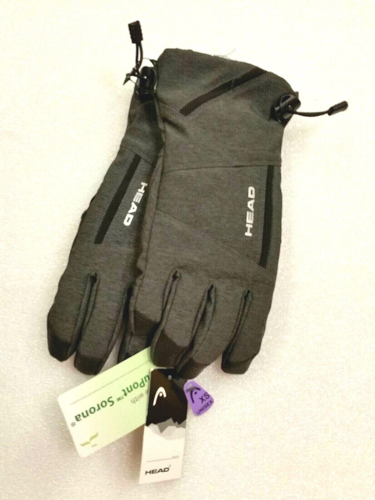 Head Unisex Sensatec Gloves Touchscreen Compatible, Gray Size X Small, RN 87312