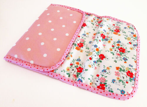 Cath Kidston Clifton Rose Oilcloth Foldable baby travel changing mat for bag