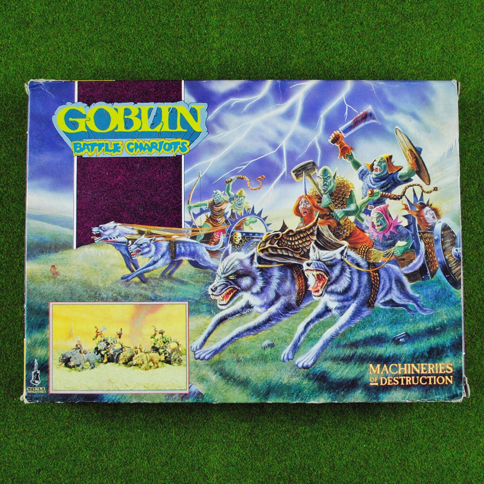 Warhammer Classic Citadel Goblin Battle Battle Battle Chariots, Metal Rare OOP Goblins Chariot dcd9de