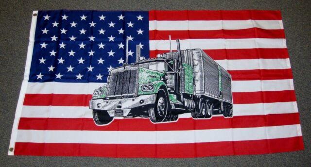 USA TRUCK FLAG 5x3 Feet BIGRIG LORRY BANNER