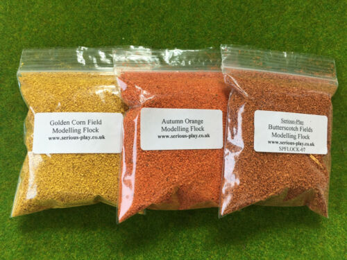 Mixed Shades Scenery Wargames Yellow Orange S-P The Autumn Scatter Flock Set